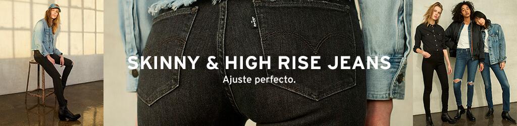 skinny & high rise jeans